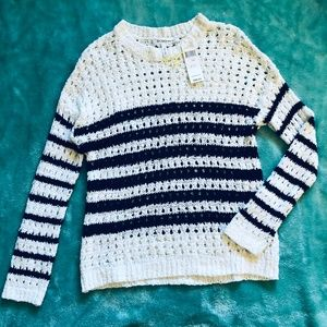 NWT BCBGeneration | Black White Open Knit Sweater